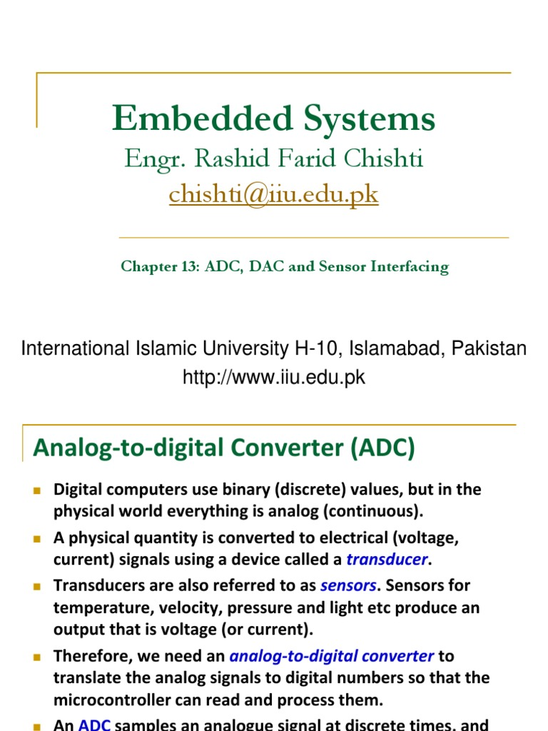 Ch13 ADC, DAC and Sensor Interfacing | Analogue Electronics