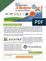 Professional Web Development Using Joomla and Wordpress