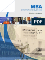 IIFT Information Brochure MBA (IB)
