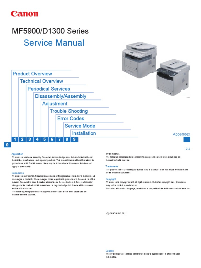 Canon MF5900 Series Service Manual   Electrical Connector   Electronics