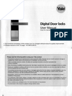 Yale YDM3109 Digital Lock User Manual