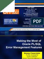 Error Management Features