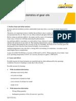 Foaming Characteristics of Gear Oils