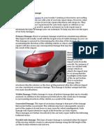 Types of Car Body Damage