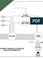 SCHEMA PONDERII FLUXURILOR IN ZONA DE ALIMENTATIE RESTAURANT