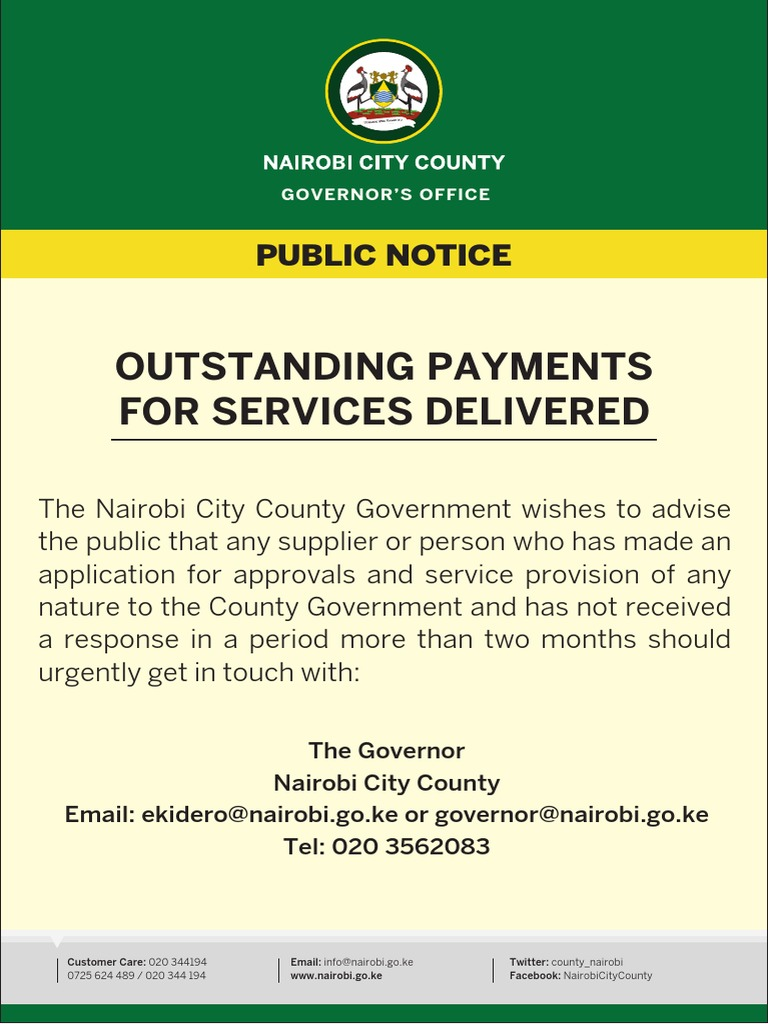 Governor's Directive #PUBLIC NOTICE