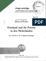Friesland und die Friesen in den Niederlanden (1942)