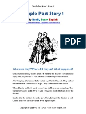 Simple Past Story 1 Question Grammar
