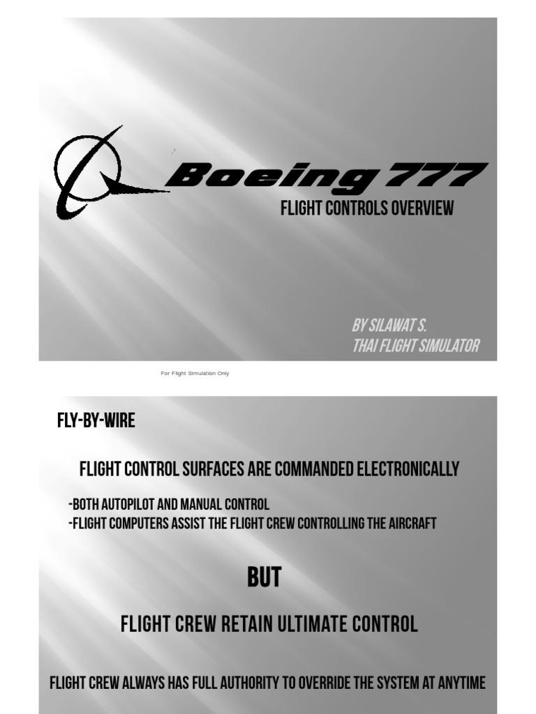 B777 Lesson 1 - Flight Control | Aircraft Flight Control System |  Spaceflight Technologies