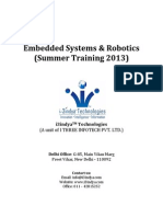 Embedded Systems & Robotics Syllabus Summer Training 2013