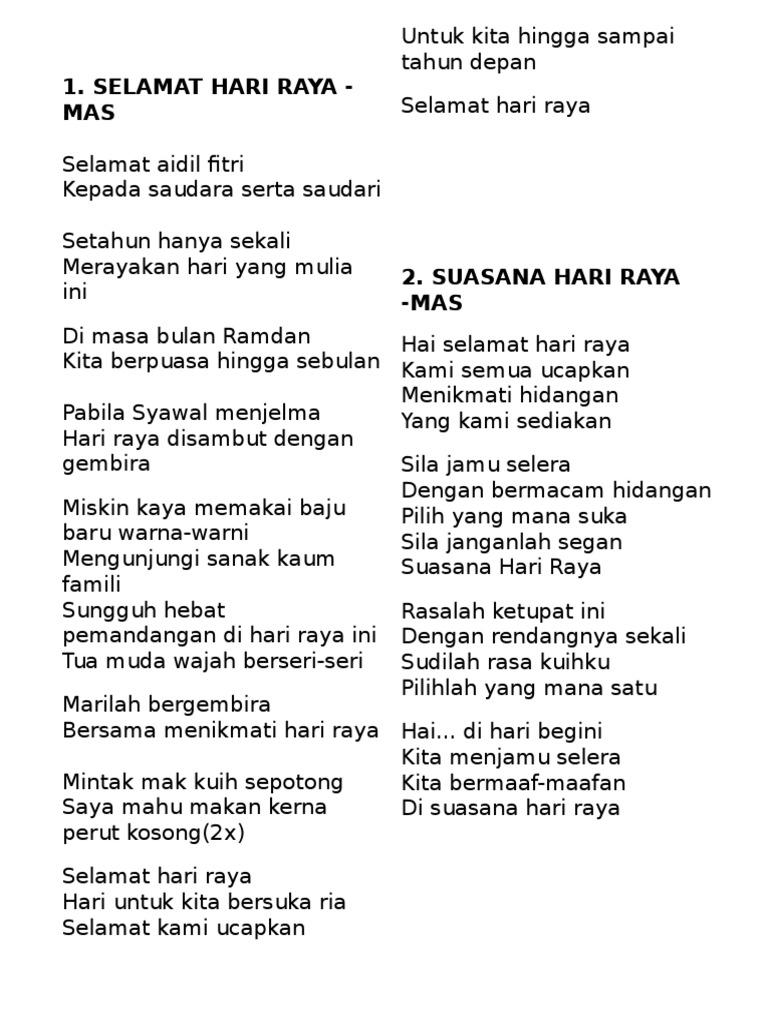Lirik Lagu Raya