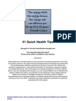 41 Quick Health Tips
