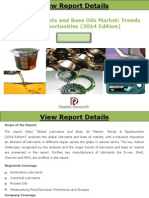 Global Lubricants and Base Oil Market