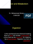 Digestion and metabolism( 6 Oct)