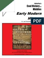 Early Modern CHM Three-week Sample