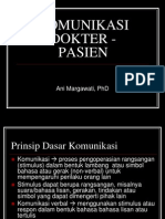 Komunikasi Dokter - Pasien (u Promkes)