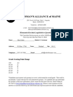 Sportsman's Alliance of Maine (SAM) Questionnaire