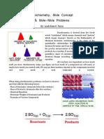 Stoichiometry, Mole Concept, Mole-Mole - Leah Rose F. Paras