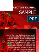 Reflective Journal Sample 2