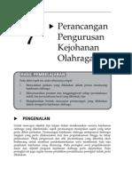 Topik 7 Perancangan Pengurusan Kejohanan Olahraga