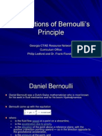 Applications of Bernoullis Principle