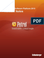 Petrel 2013 Release Notes