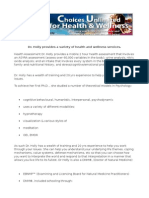 Alternatives for Health and Wellness