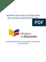 Instructivo Para Evaluacion Estudiantil 2013