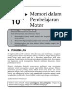 Topik 10 Memori Dalam Pembelajaran Motor