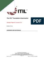 ITIL Foundation Examination SampleB v5.1 ANSW 20120731
