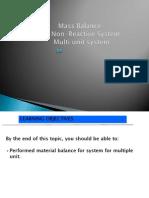 Chaper 4 Non-reactive Multi Units Process