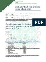Chestionare Sanatatea Mintala Depresie Test AUDIT C