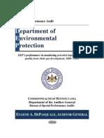 Pennsylvania auditor general report on fracking