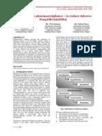 Data Mining in Pharmacovigilance – to Reduce ADRs