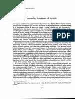 Acoustic Spectrum of Liquids