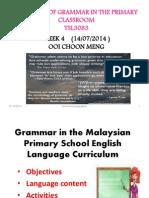 Grammar in the Malaysian Primary School English Language W4