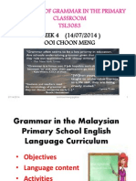 Grammar in the Malaysian Primary School English Language W4