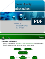Process Quality management