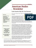Department of American Studies 2014 Newsletter