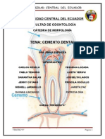 Monografia Definitiva de Cemento Dental