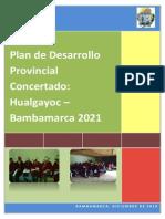 Plan Desarrollo Provincial Concertado H-B 2021 Informe Final