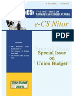 Special Issue Union Budget 14 15