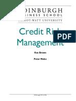 Credit Risk Management Principles