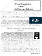2007 Issue 1 - Henty Essay Contest Winners Molly and Courtney Anderson - Counsel of Chalcedon