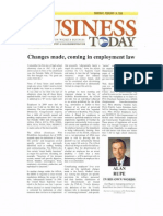 Changes Made, Coming in Employment Law
