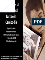 The Politics of Transitional Justice in Cambodia
