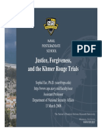 Justice, Forgiveness, and the Khmer Rouge Tribunal