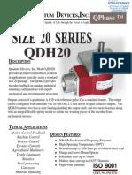 Quantum Qdh20 Specsheet