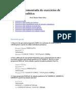 Resolução Comentada de Exercícios de Química Analítica