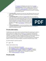 La Presión en Un Fluido Es La Presión Termodinámica Que Interviene en La Ecuación Constitutiva y en La Ecuación de Movimiento Del Fluido